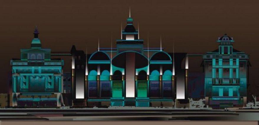 Élaboration de l'horizon lumineux de l'ensemble des bâtiment